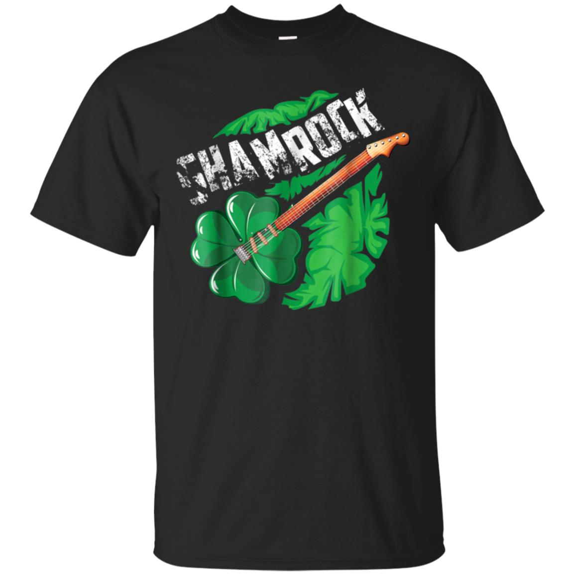 Shamrock Shirt  Cute Irish Shamrock Guitar T-shirt Gift 99promocode
