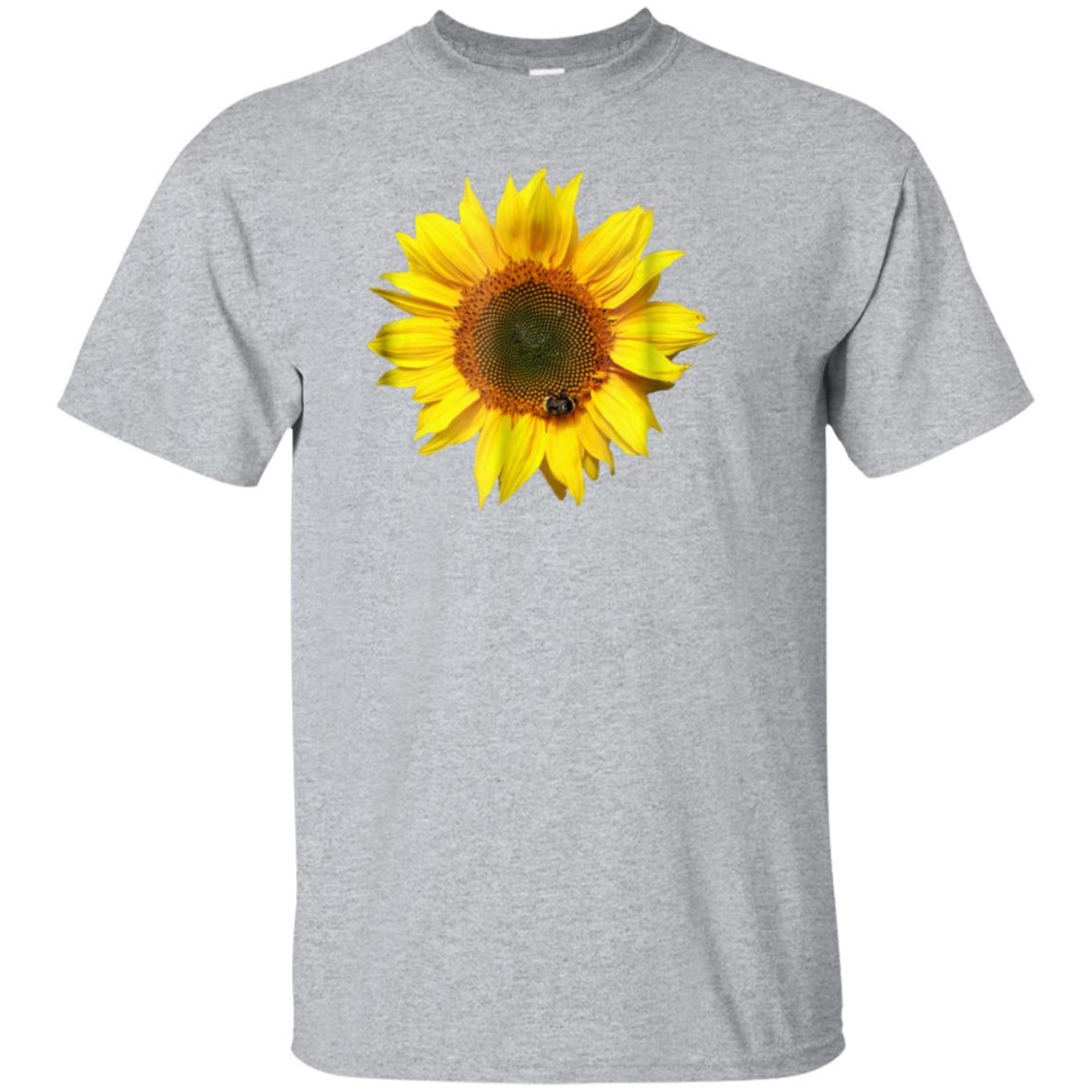 Flower Shirts Nice Sunflower with a Bee T-Shirt 99promocode