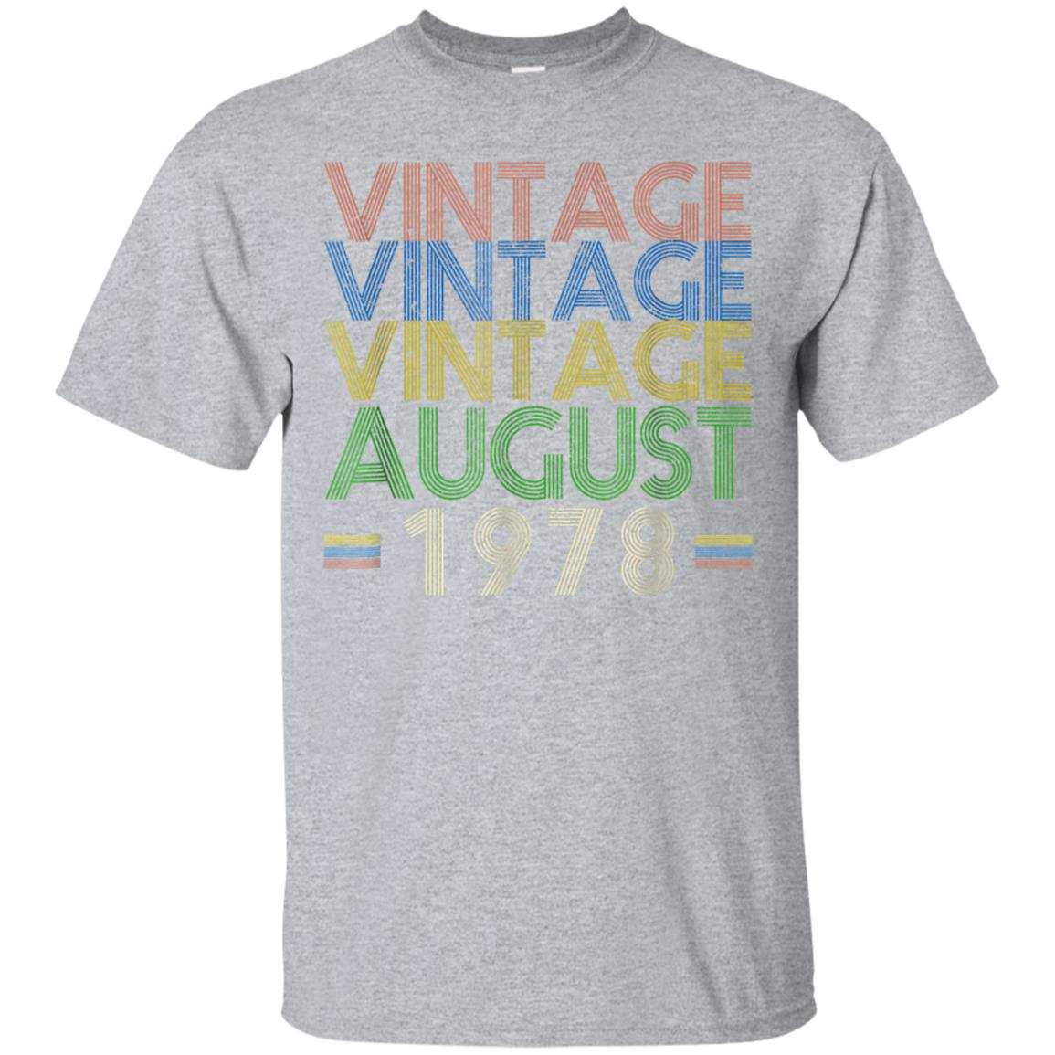 Vintage August 1978 T-Shirt Retro 70's-40th Birthday Tee 99promocode