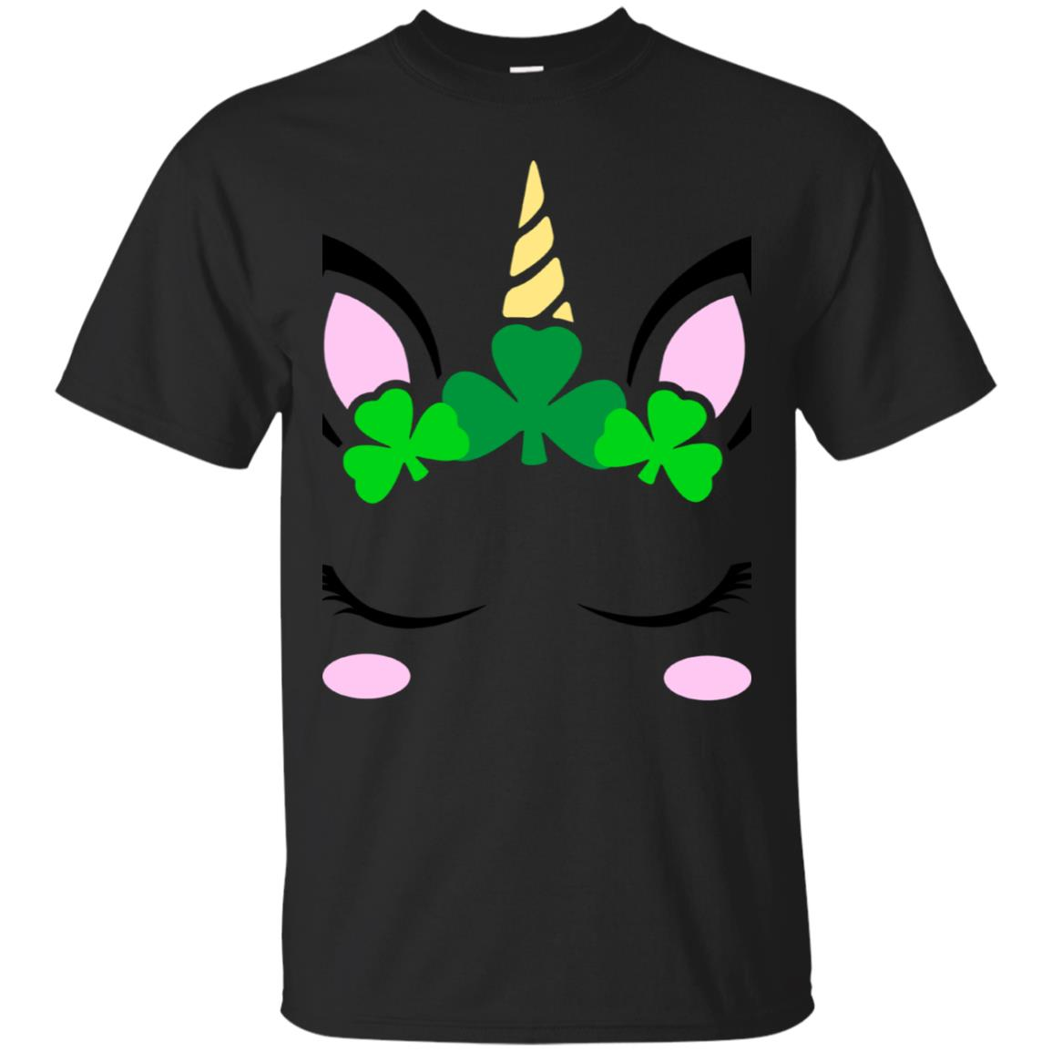 St. Patrick's Day Unicorn face T-Shirt 99promocode