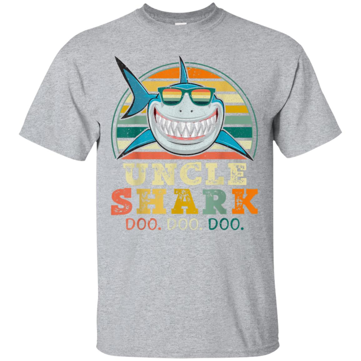 Retro Vintage Uncle Shark TShirt Funny Birthday Gifts Family 99promocode