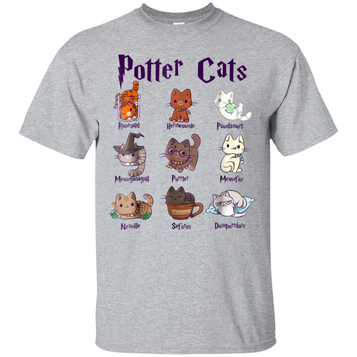 Harry Pawter Cute Kitten Potter Cats T-Shirt For Women 99promocode