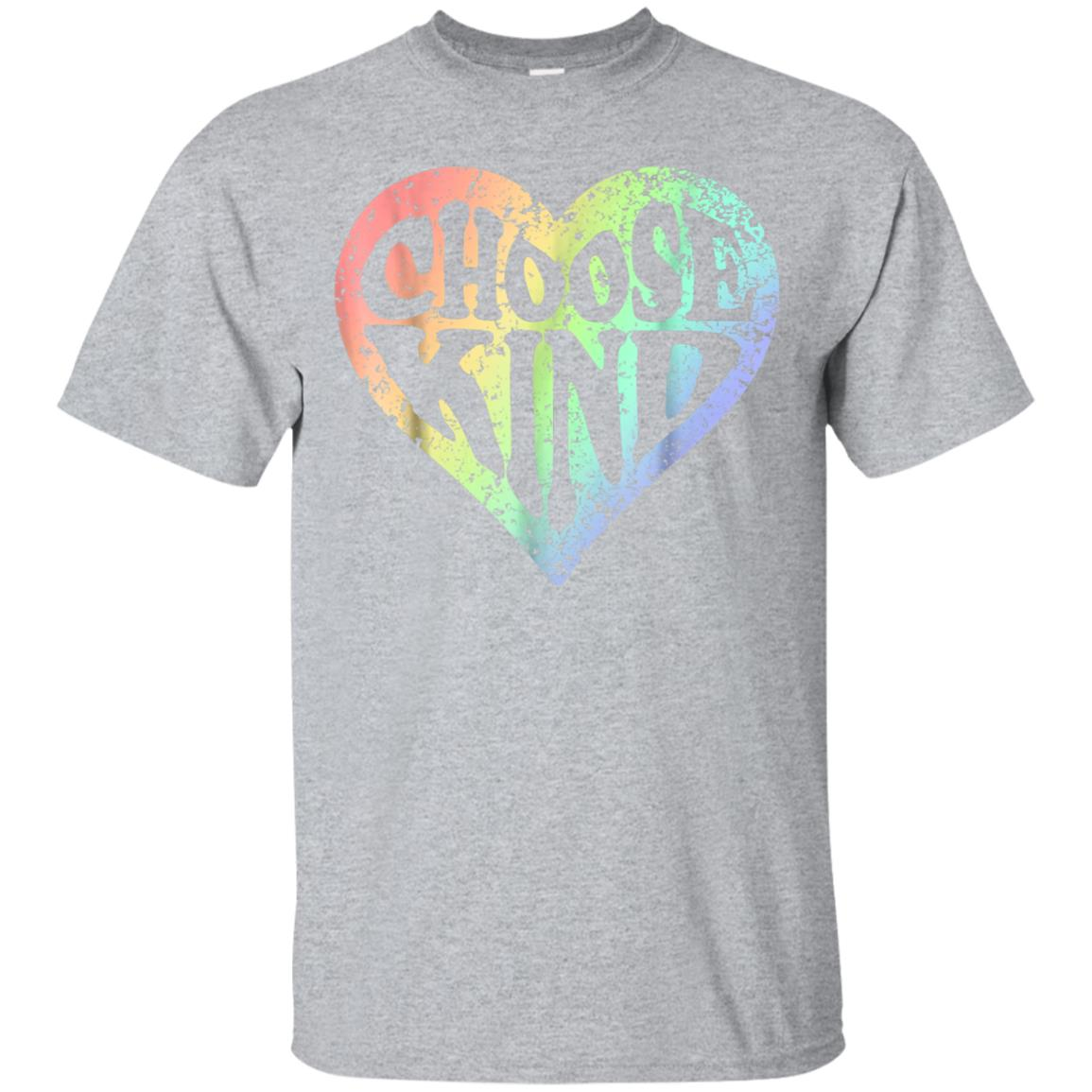 Rainbow Heart Choose Kind Shirt Anti Bully Women Men Kids 99promocode