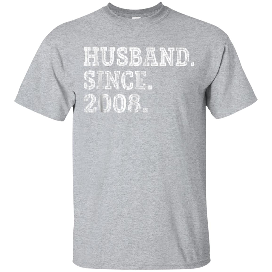 10th Wedding Anniversary Gifts - Husband Since 2008 Shirt 99promocode