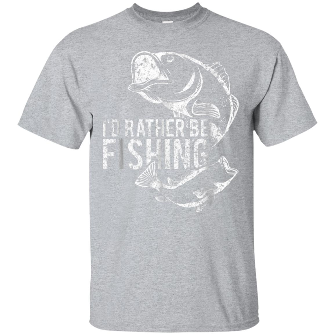 Fisherman Shirt for Men Women - I'd Rather Be Fishing Tshirt 99promocode