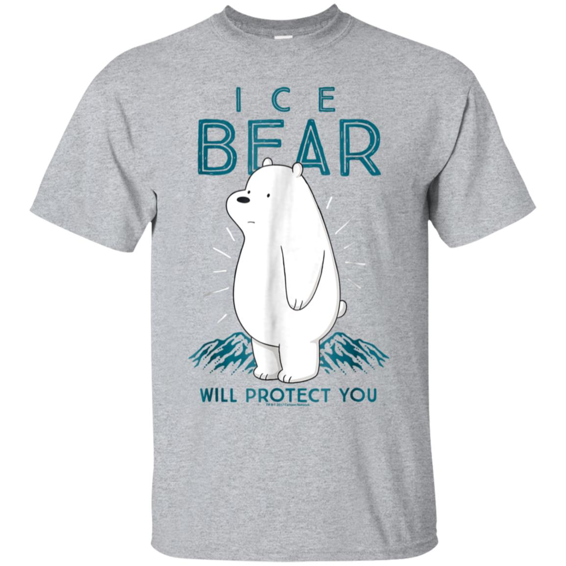 CN We Bare Bears Ice Bear Will Protect You Graphic T-Shirt 99promocode
