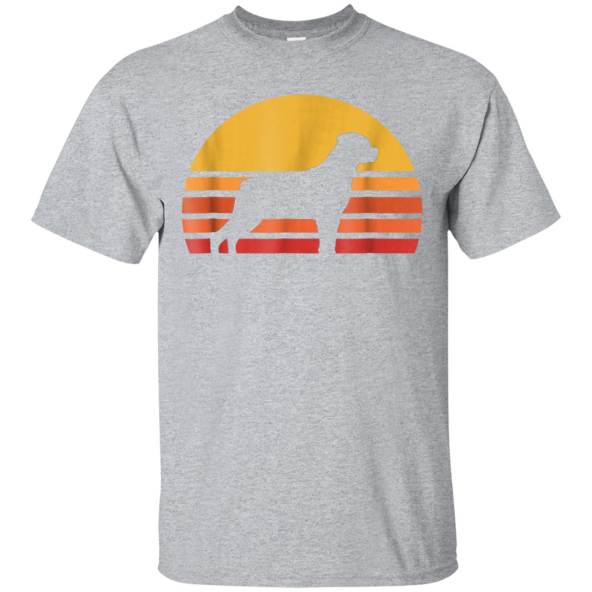 Retro Sun Rottweiler Silhouette T-shirt For Dog Lovers 99promocode