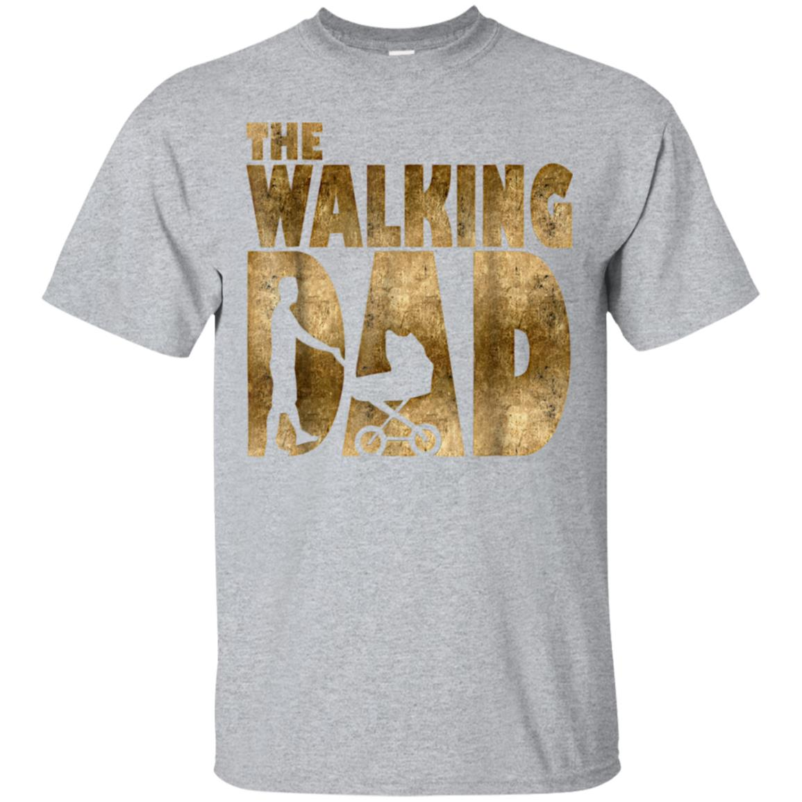 Mens Walking Dad T-Shirt for New Fathers Day Christmas Gift Shirt