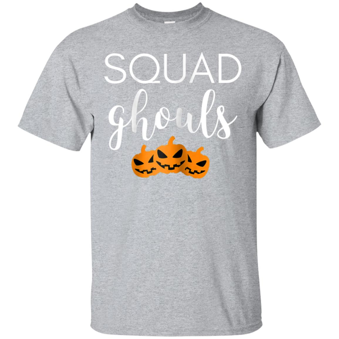 Womens Funny Halloween Costume Squad Ghouls Ghost Shirt 99promocode