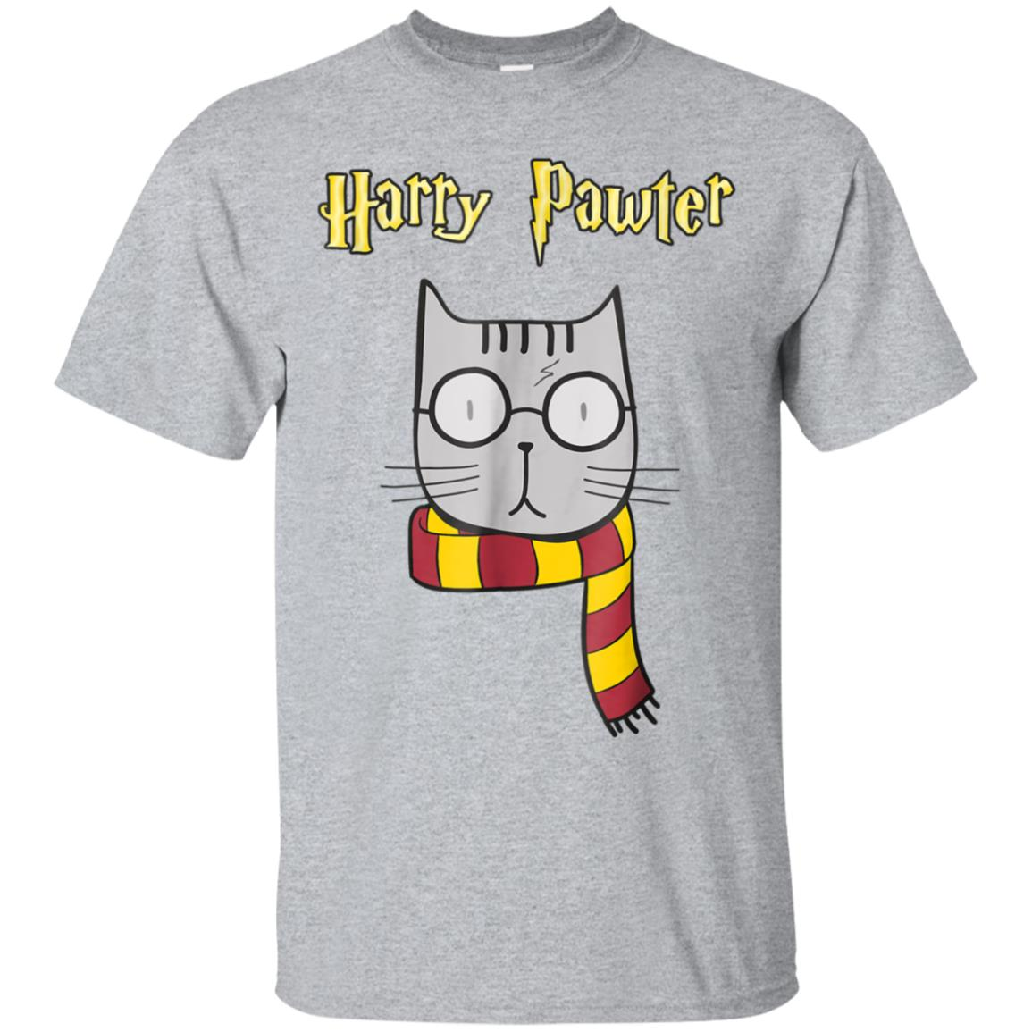 Harry Pawter Funny T-Shirt Cute Magic Cat With Glasses Gift 99promocode