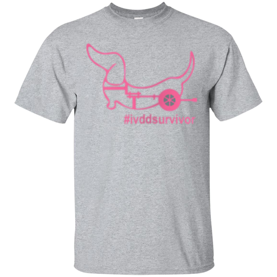Dachshund in a Wheelchair IVDD Survivor T Shirt Pink 99promocode