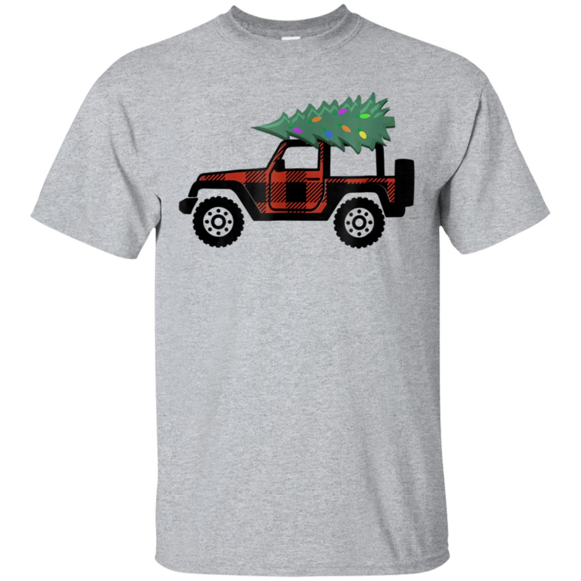 Buffalo Plaid Jeep Christmas T Shirt 99promocode