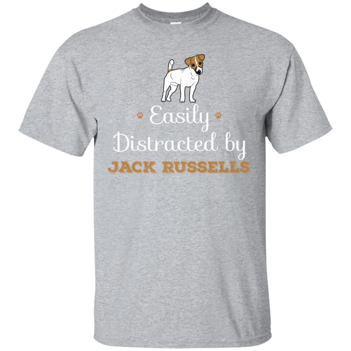 Easily Distracted by Jack Russell T-Shirt  Funny Gift Tee 99promocode