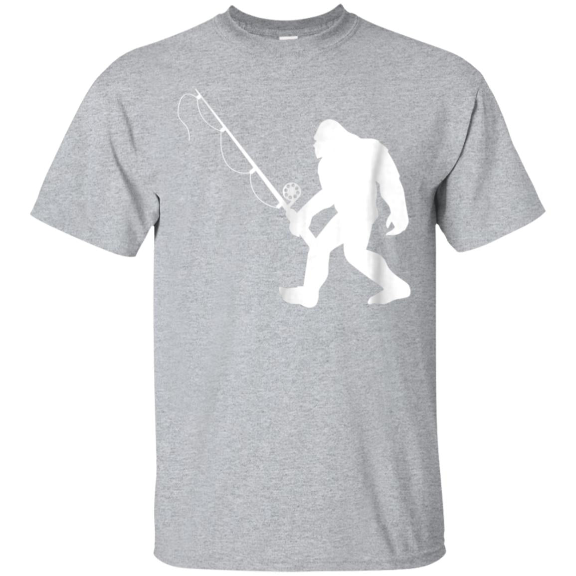 Funny Bigfoot Fishing T Shirt 99promocode