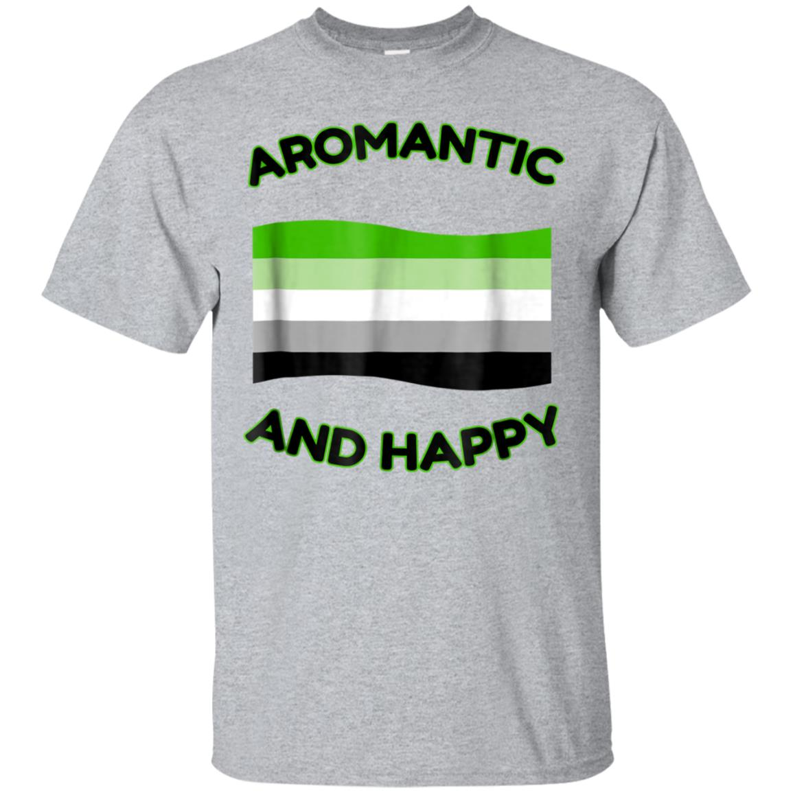 Aromantic And Happy T-Shirts LGBT Flag 99promocode