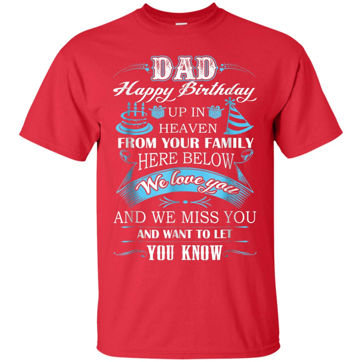 4a98373e Awesome happy birthday my dad in heaven t shirt - 99promocode