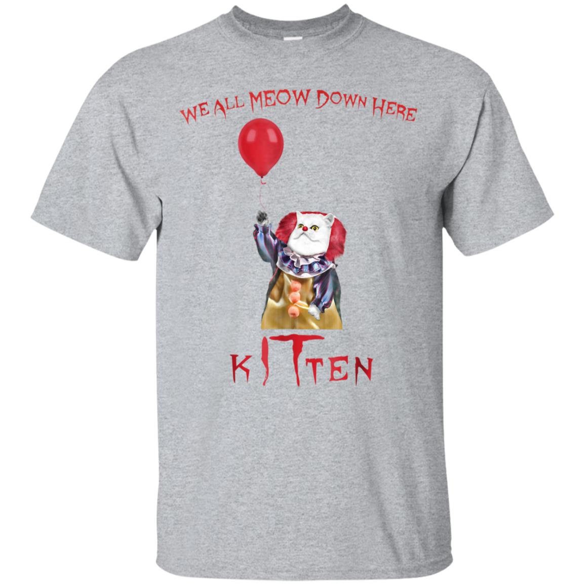 We All Meow Down Here Clown Cat Kitten Shirt 99promocode