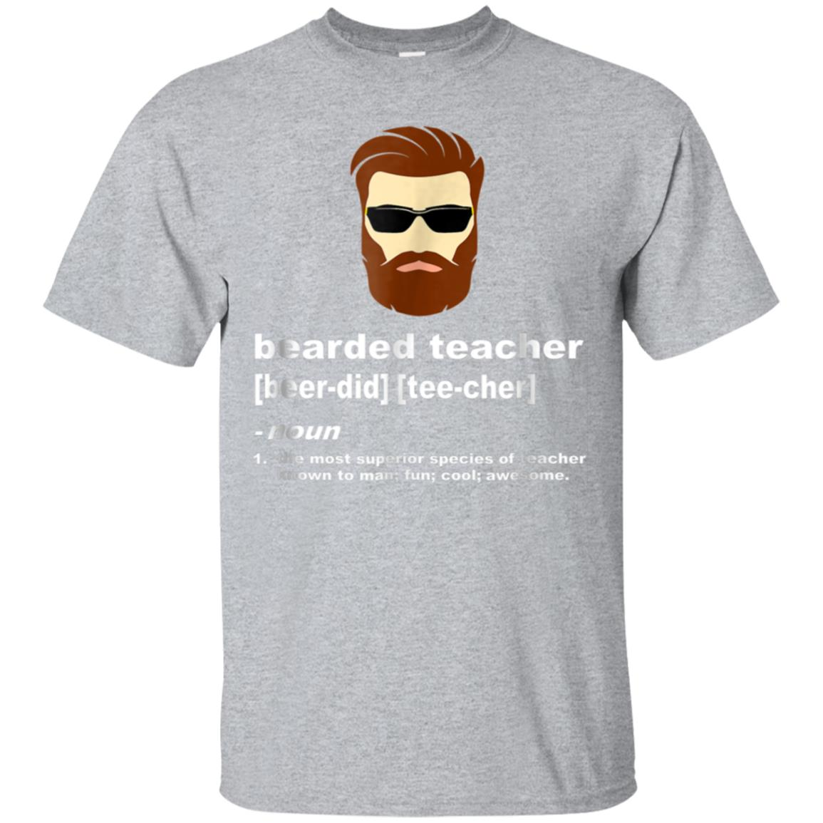 funny beard teacher shirt