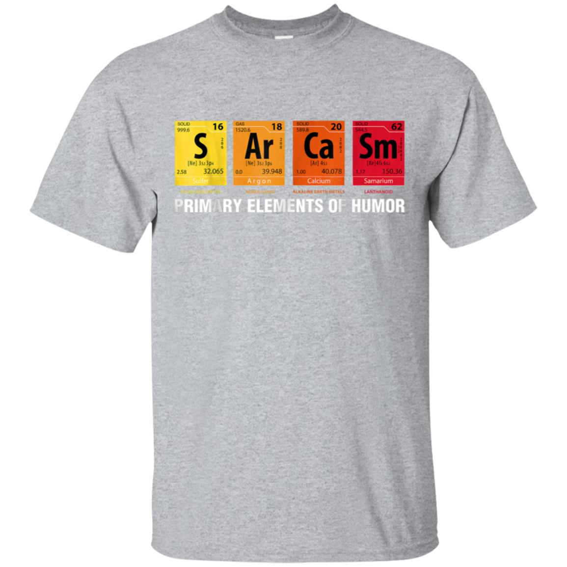 Sarcasm Elements of Humor Periodic Table Graphic T-Shirt 99promocode