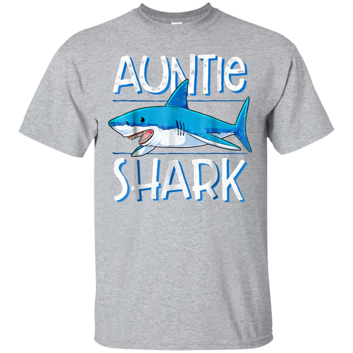 Auntie Shark T Shirt Family Matching Aunt Women Jawsome Gift 99promocode