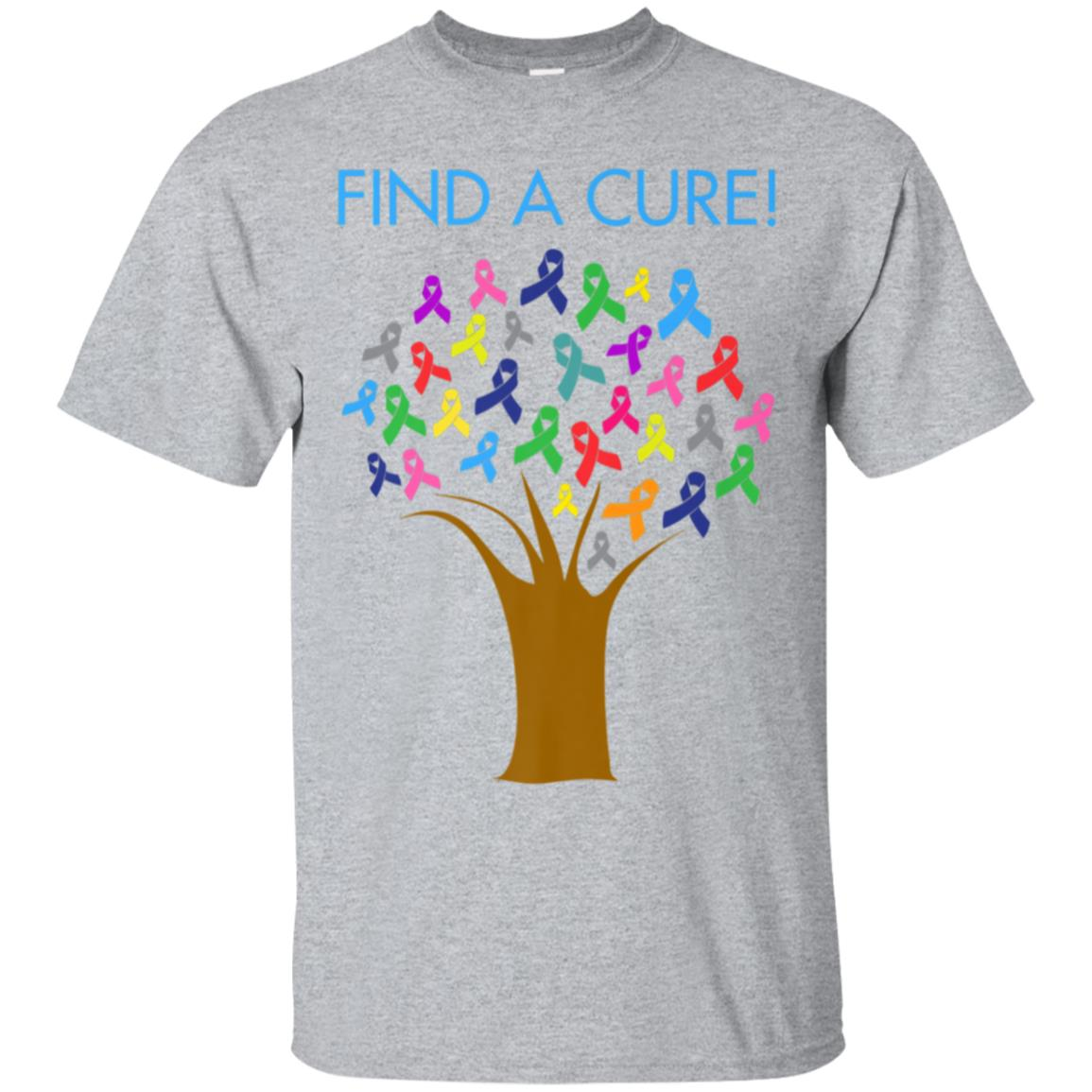Cancer Awareness Ribbon Tree T-Shirt 99promocode