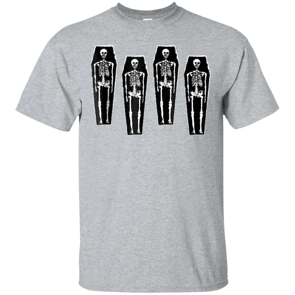 Skeleton Coffin Goth Punk Halloween T Shirt 99promocode