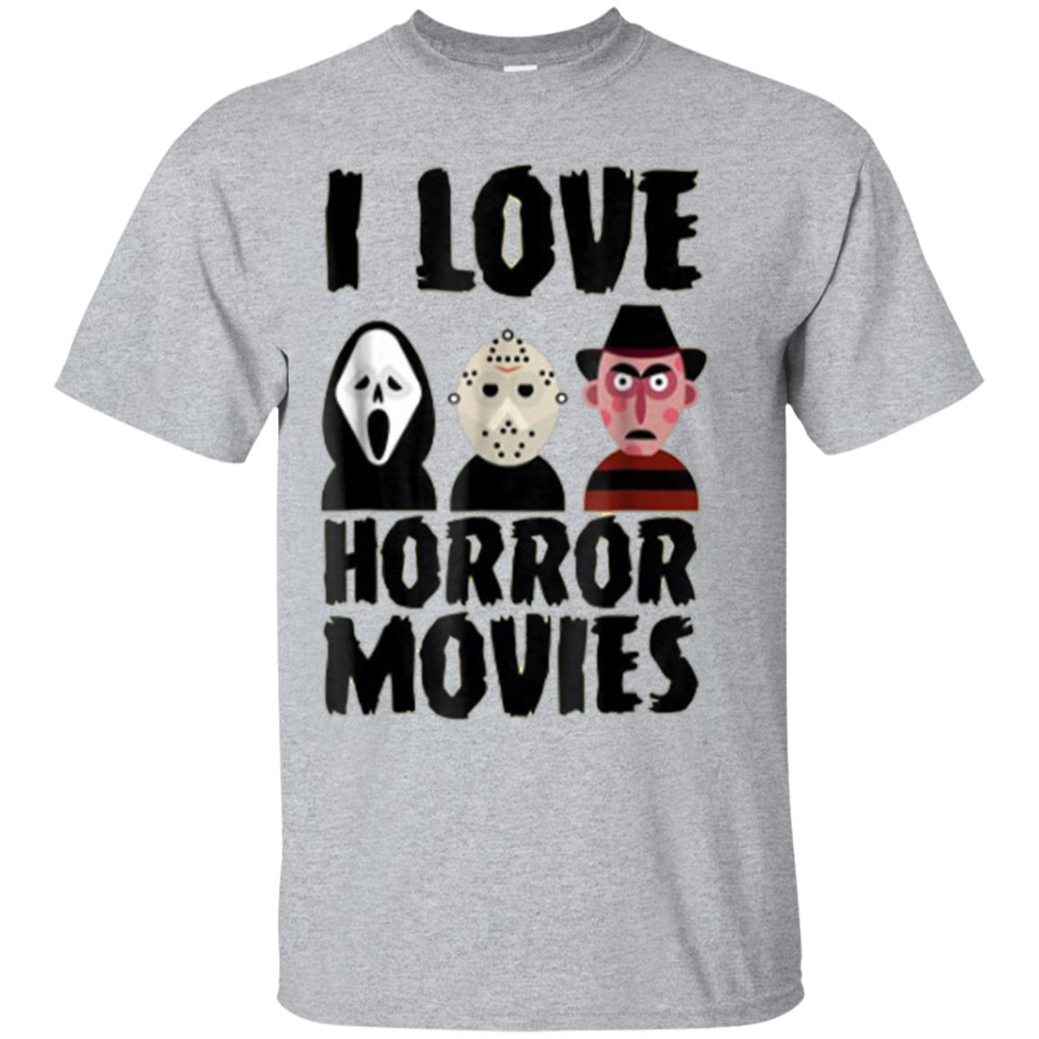 I Love Horror Movies T-Shirt For Men Women and Kids 99promocode