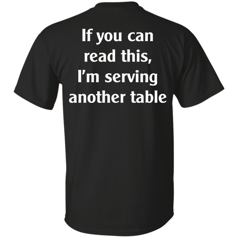 If you can read this, I'm serving another table