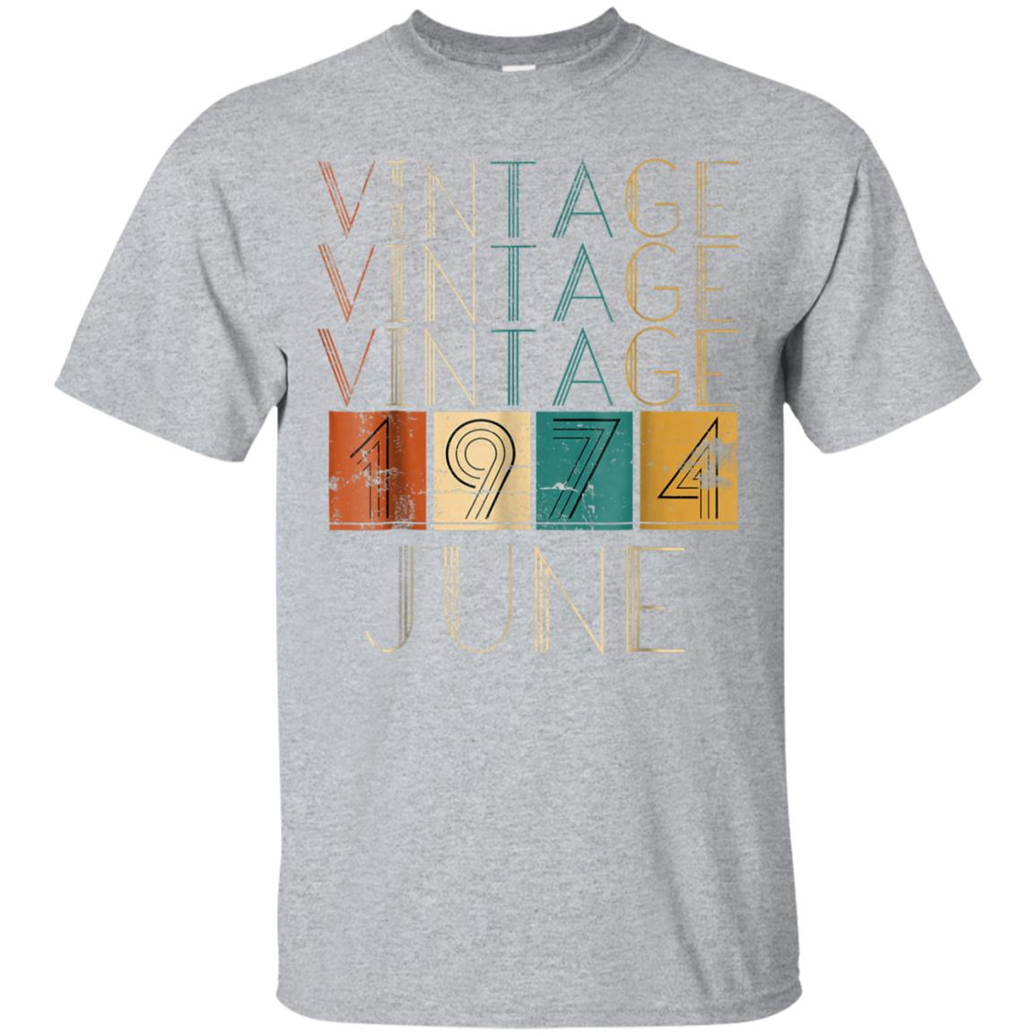 Vintage Distressed Retro June 1974 Tshirts 99promocode