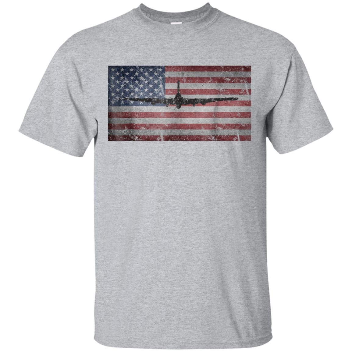 B-17 Flying Fortress Bomber T-Shirt American Flag Airplane 99promocode