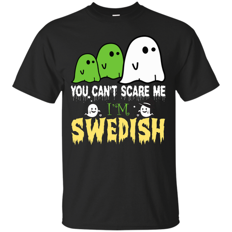 Halloween you can't scare me i'm SWEDISH shirt
