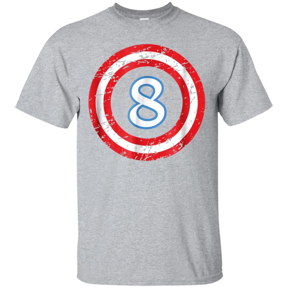 Captain 8 Year Old Birthday Boy T-Shirt (8th Birthday Gift) 99promocode