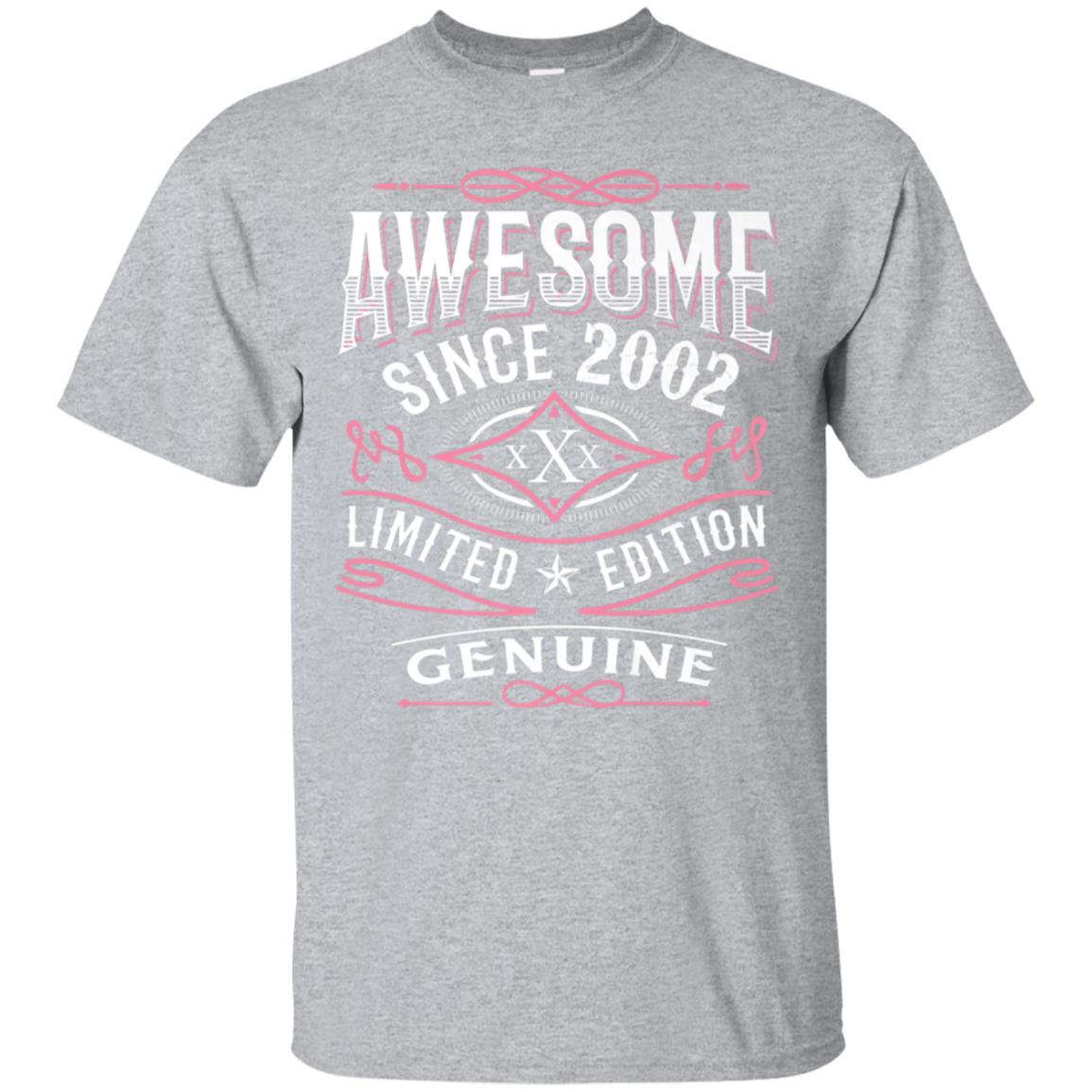 16th Birthday Gift T-Shirt Awesome Since 2002 Vintage Shirt 99promocode
