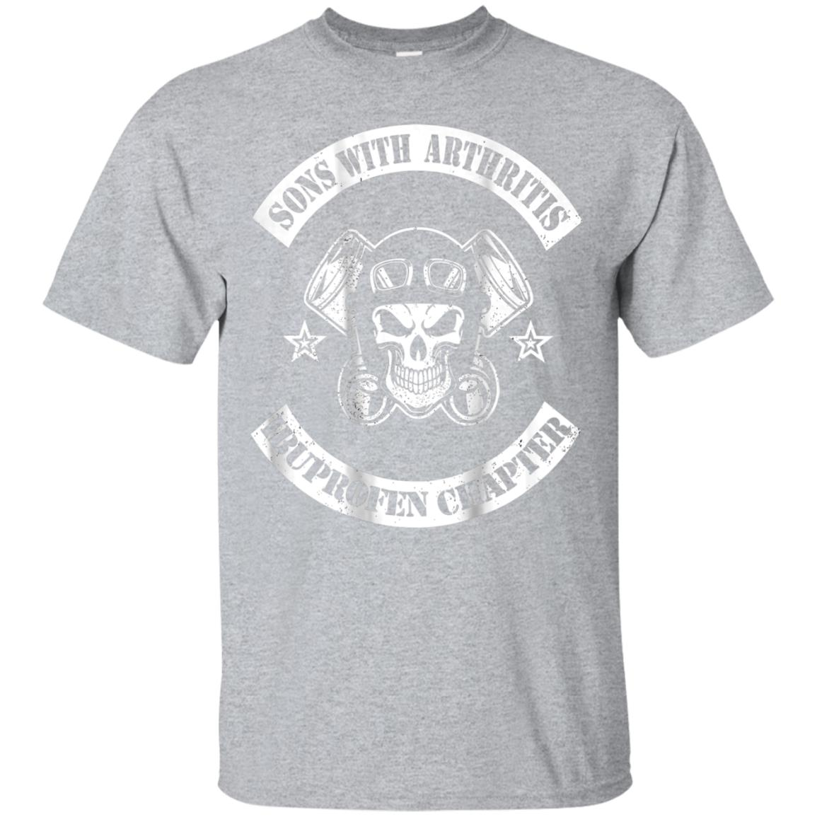 Biker Sons with Arthritis Printed on Back Funny T Shirt 99promocode