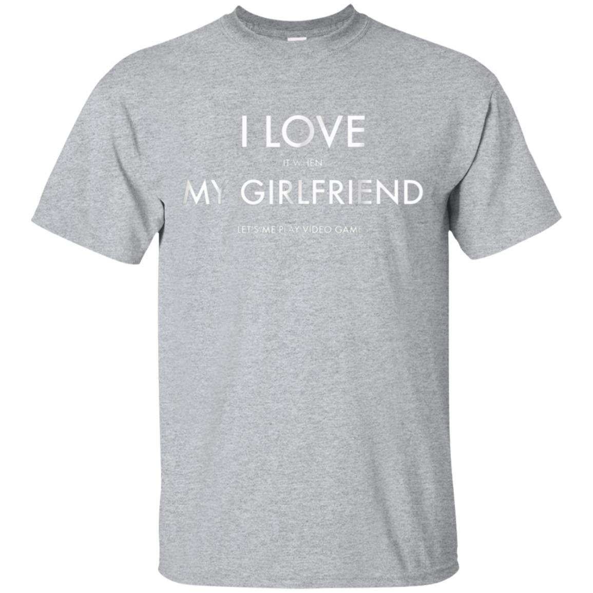 Mens I Love My Girlfriend Video Games Valentines Day T-Shirt 99promocode