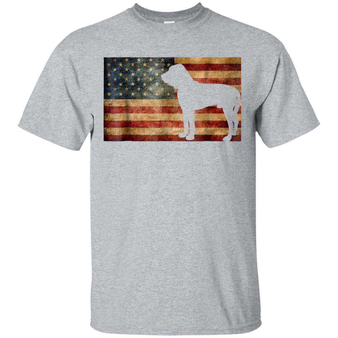 American Flag Bloodhound T-Shirt Patriotic Flag Dog Gift 99promocode