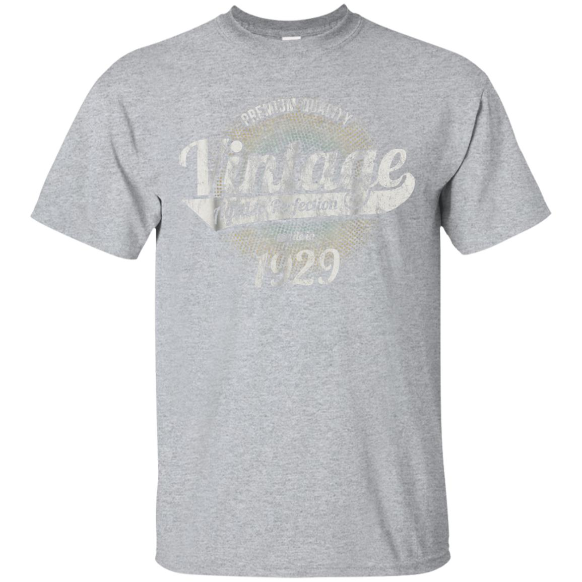 Vintage Est 1929 T-Shirt 89 Years Old 89th Birthday Gift 99promocode
