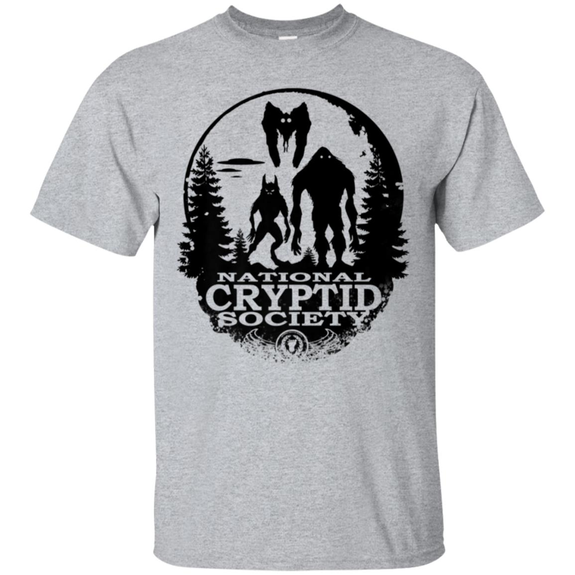 Bigfoot Dogman Mothman UFO; National Cryptid Society T-Shirt 99promocode