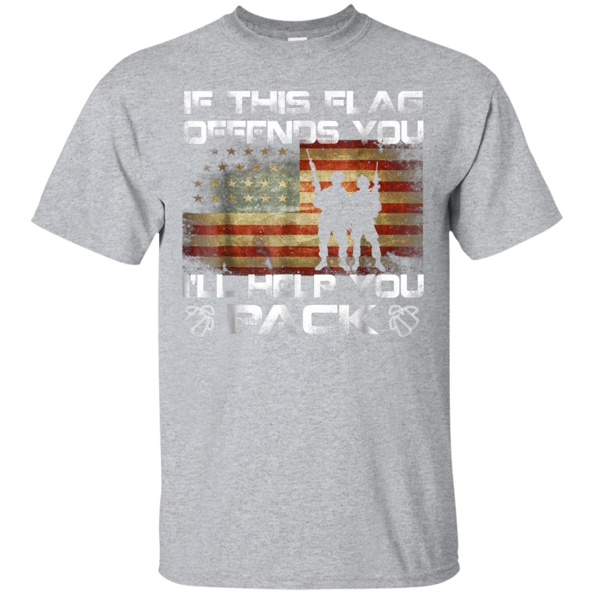 If This Flag Offends You I'll Help You Pack Veteran Shirt 99promocode