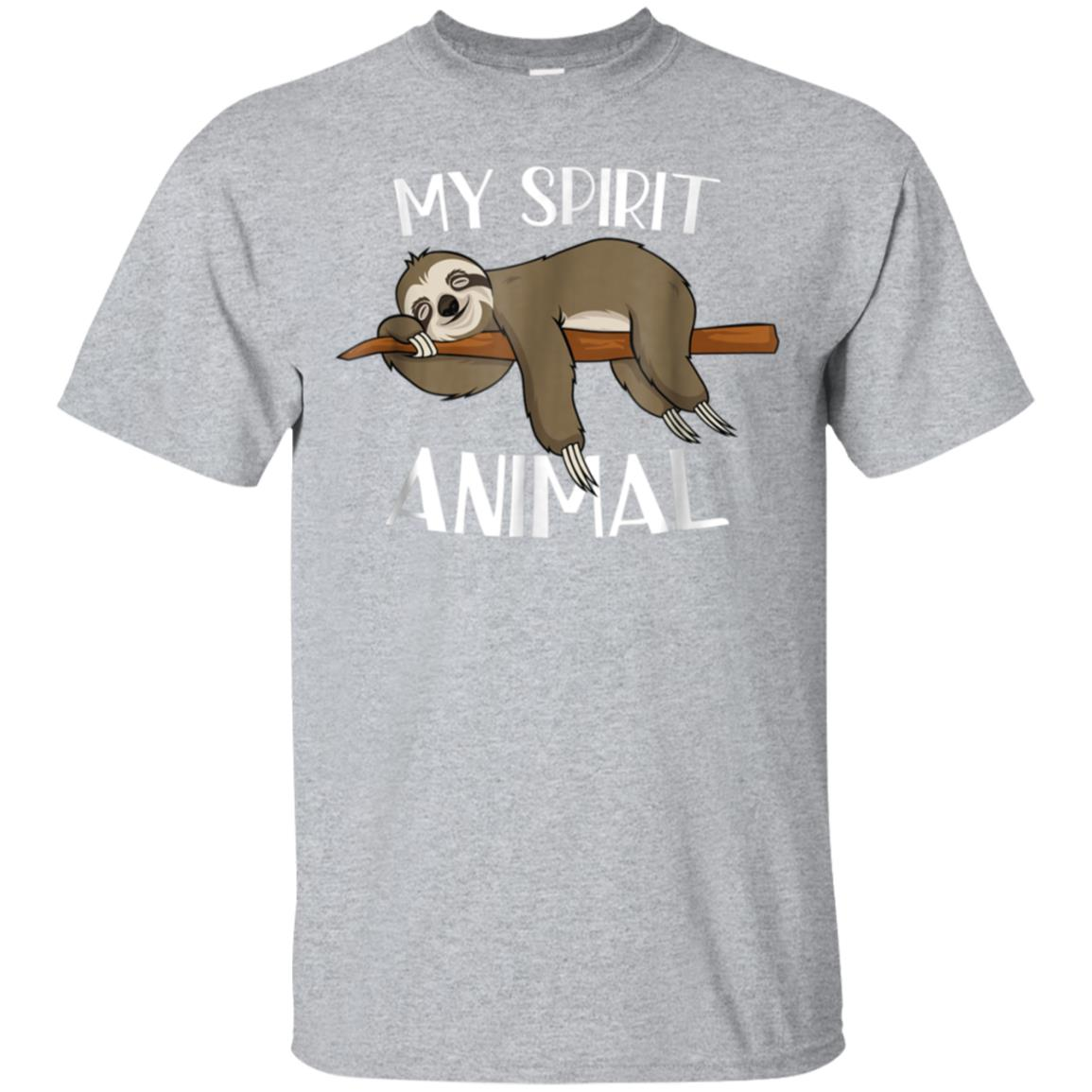 6219ef3a Awesome my spirit animal funny sloth t shirt lazy napping gift tee ...