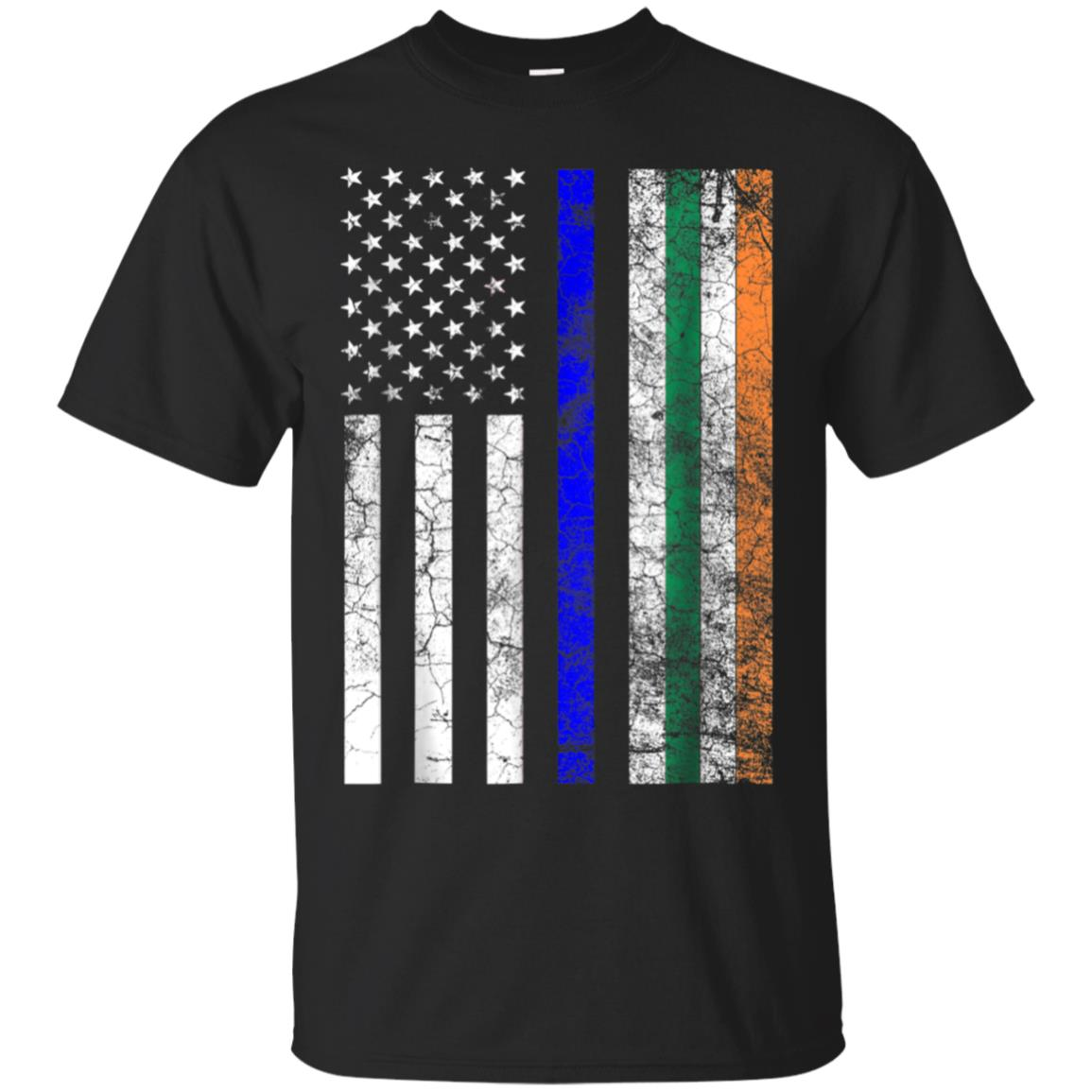 Police Officer Irish American Flag St. Patrick's Day T Shirt 99promocode