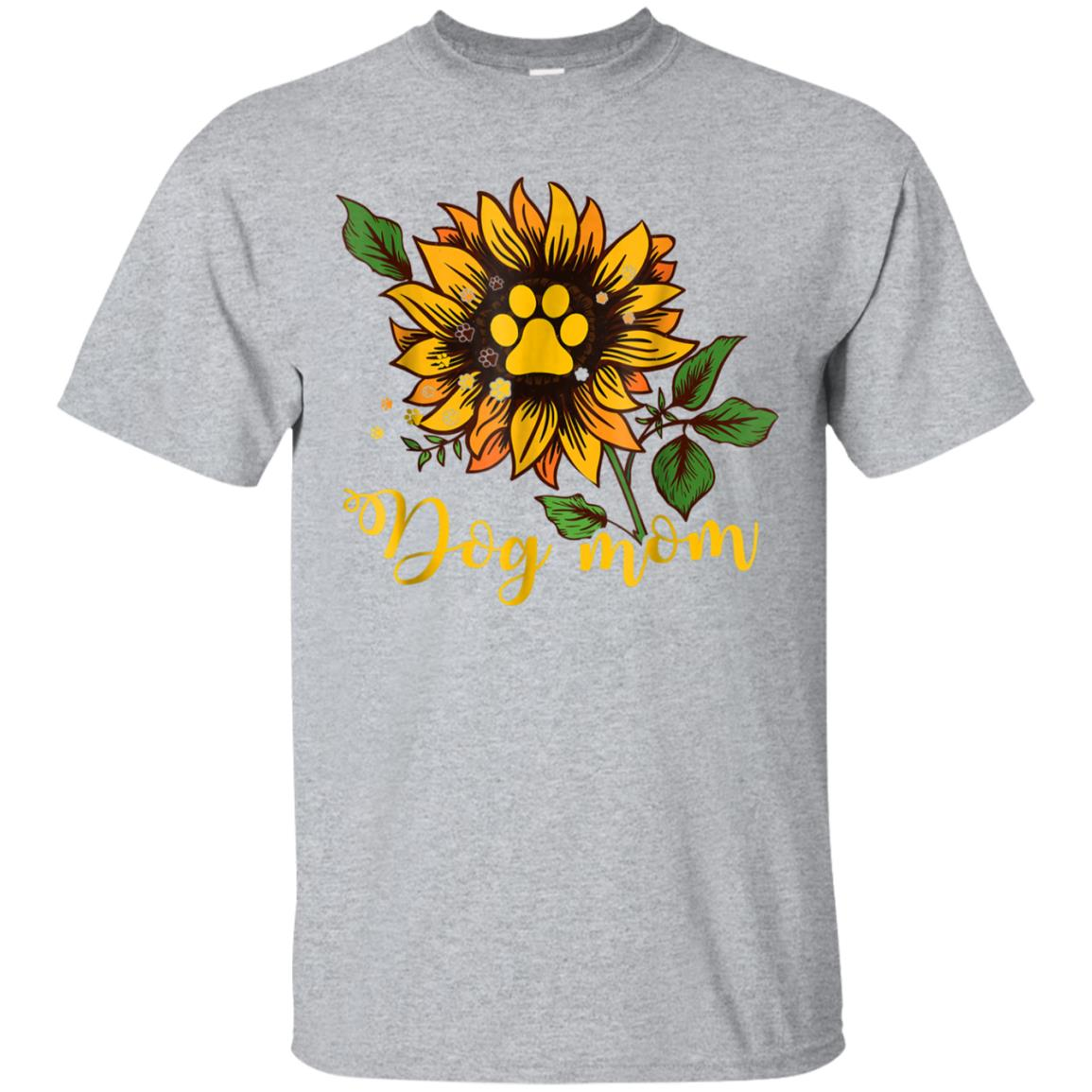 Dog Mom Sunflower Funny T-Shirt 99promocode