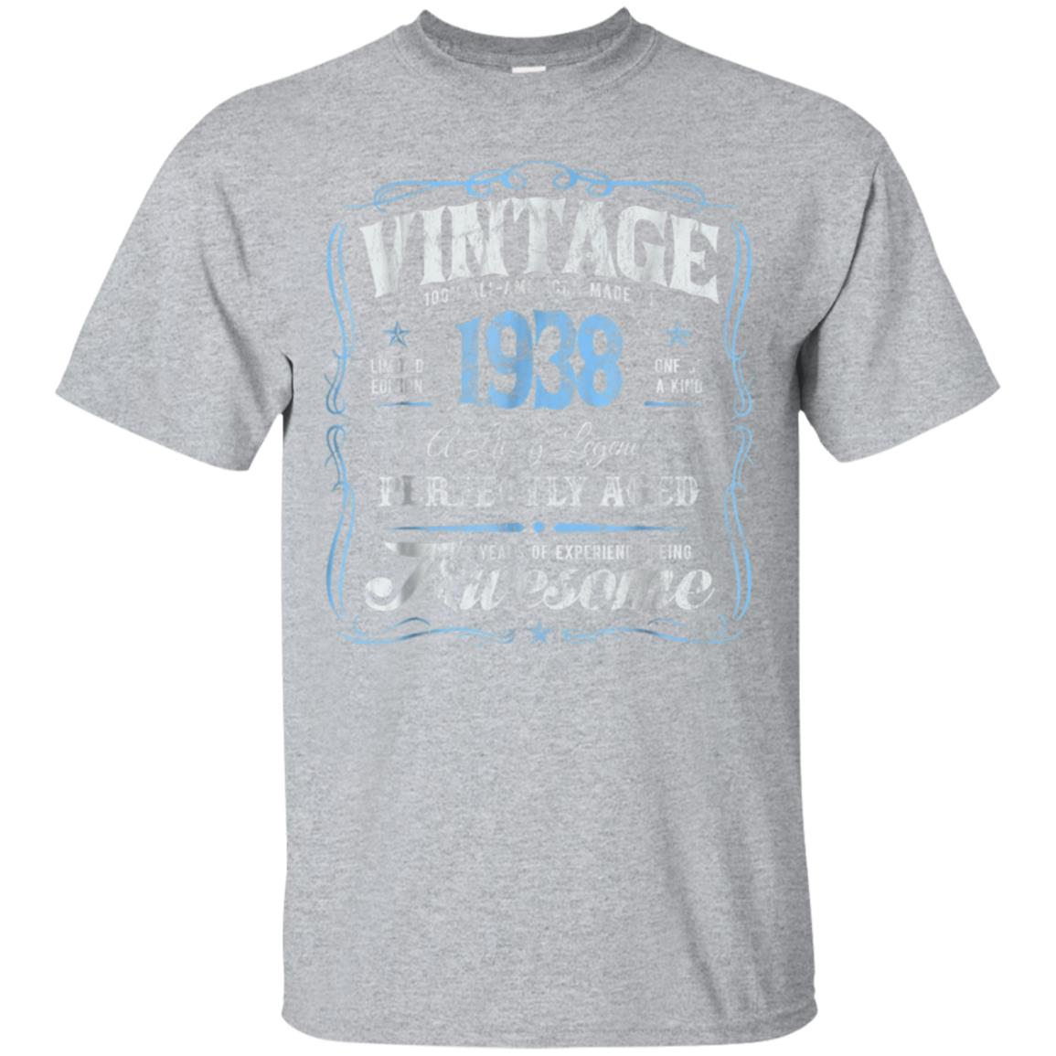 80th Birthday T-Shirt Made In 1938 Vintage 80 Years Old Gift 99promocode