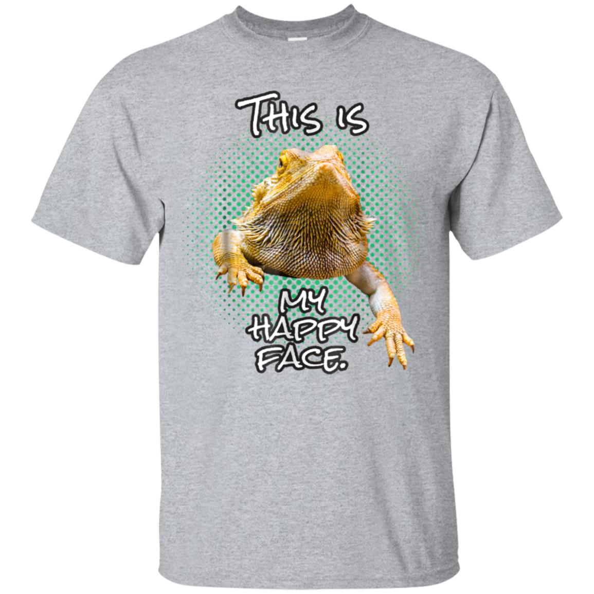 This Is My Happy Face Bearded Dragon Funny Reptile T-shirt 99promocode