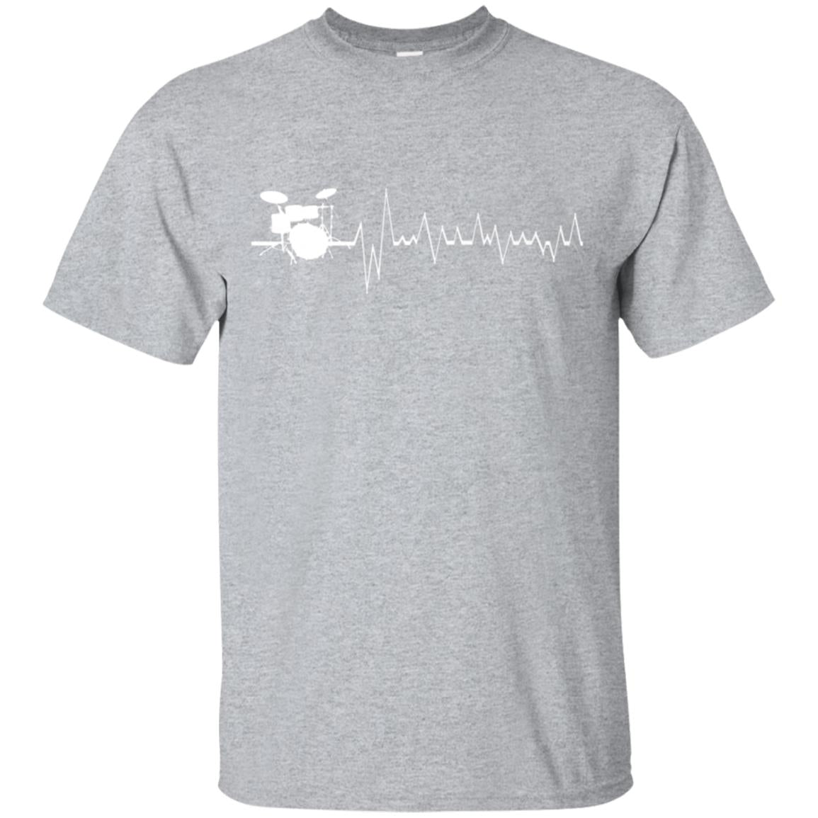 Drumming is the Heartbeat of Life Drummers Fun Gift T-Shirt 99promocode