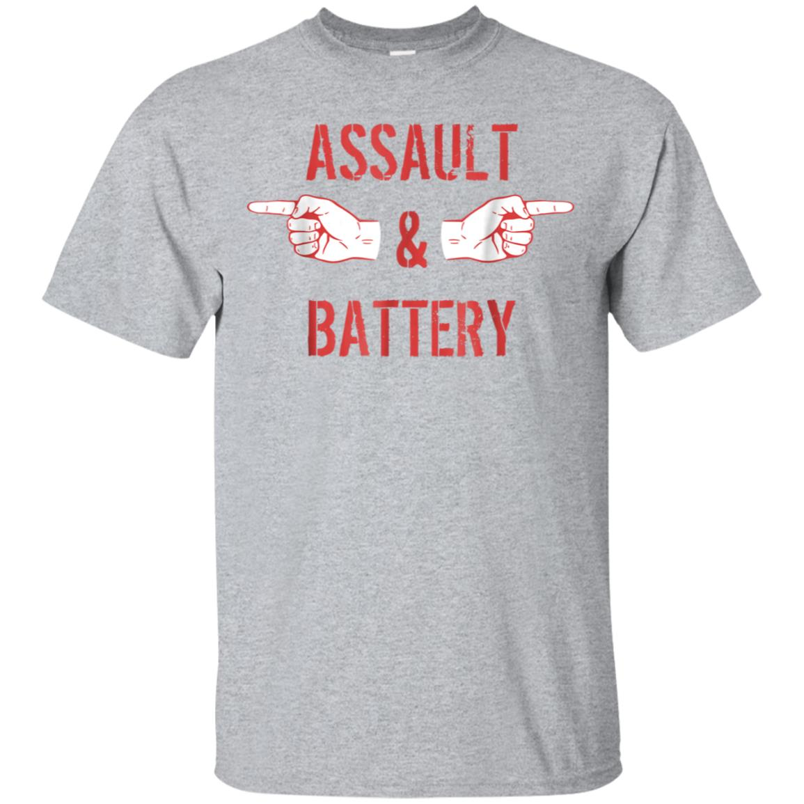 Assault And Battery funny T Shirt for men 99promocode