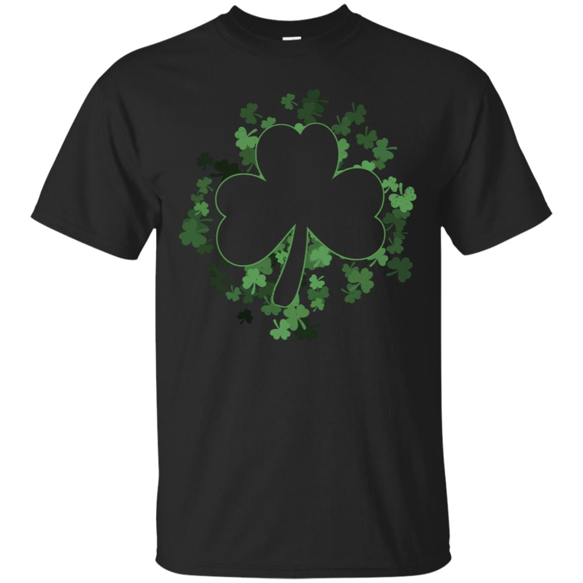 Clover Patch With Shamrock Outline St Patricks Day T-Shirt 99promocode