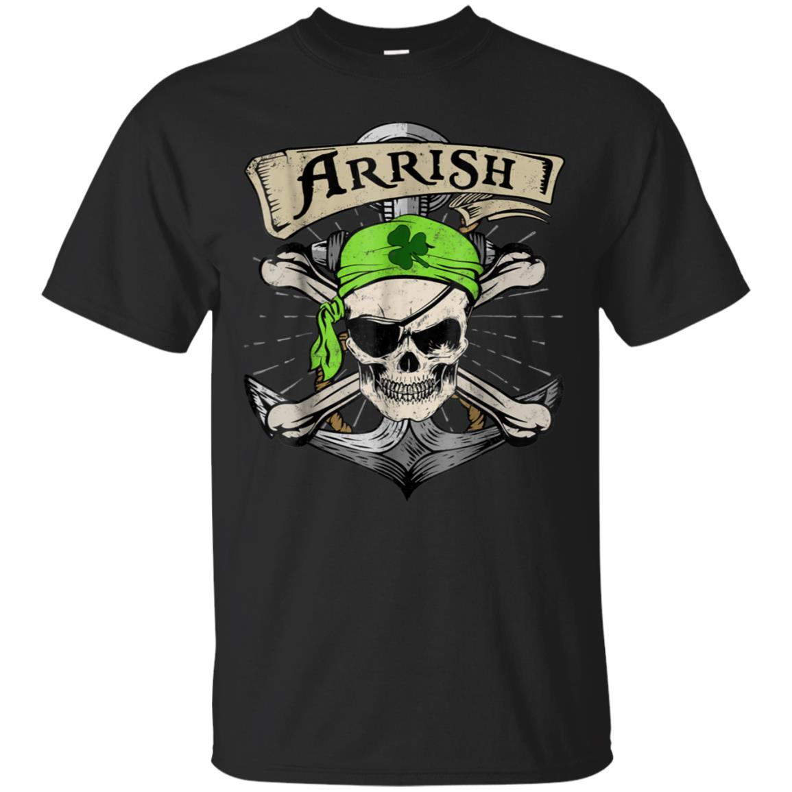 Arrish Irish Pirate Funny St Patrick's Day T-Shirt 99promocode