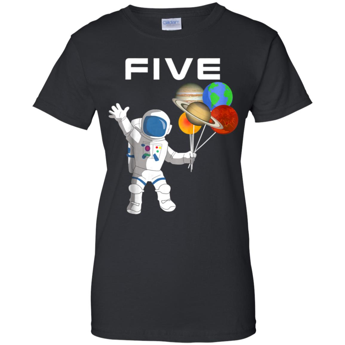 Kids 5 Year Old Outer Space Birthday Party 5th Shirt B