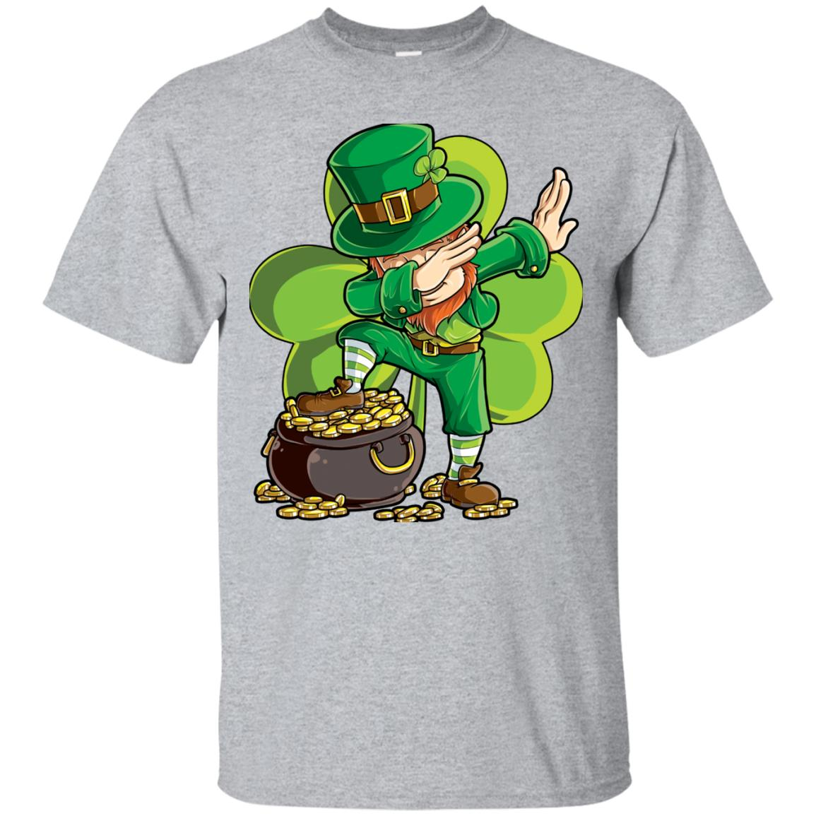 Dabbing Leprechaun Shirt St Patricks Day Kids Boys Women Men 99promocode